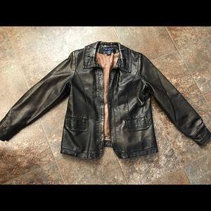 Faux leather bronze jacket